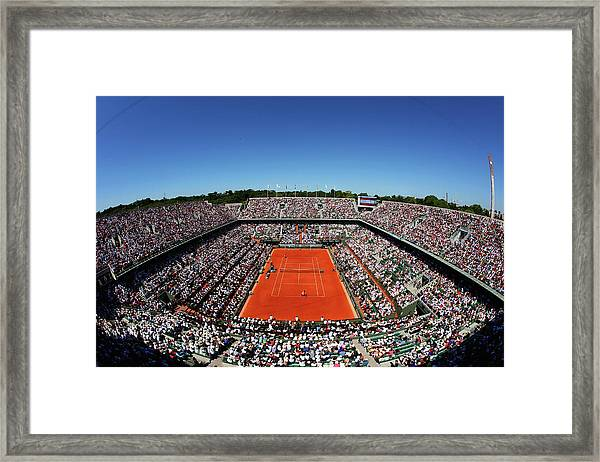 2015 French Open - Day Fourteen Framed Print by Clive Brunskill