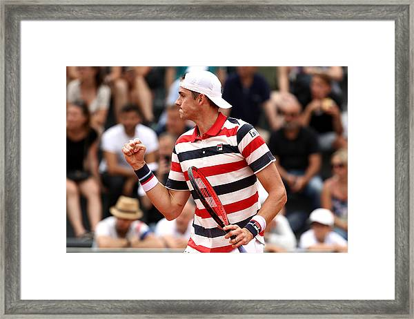 2018 French Open - Day Two Framed Print by Cameron Spencer