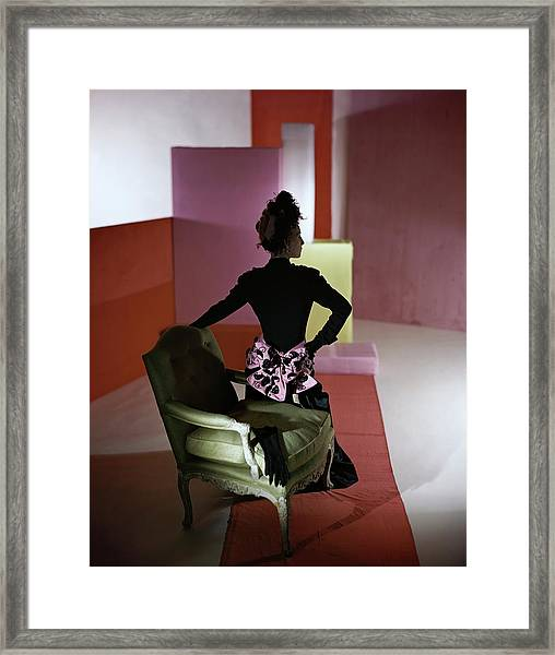 A Model Wearing A Schiaparelli Dress Framed Print by Horst P. Horst
