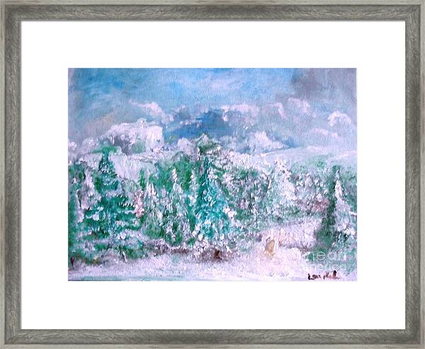 A Natural Christmas Framed Print
