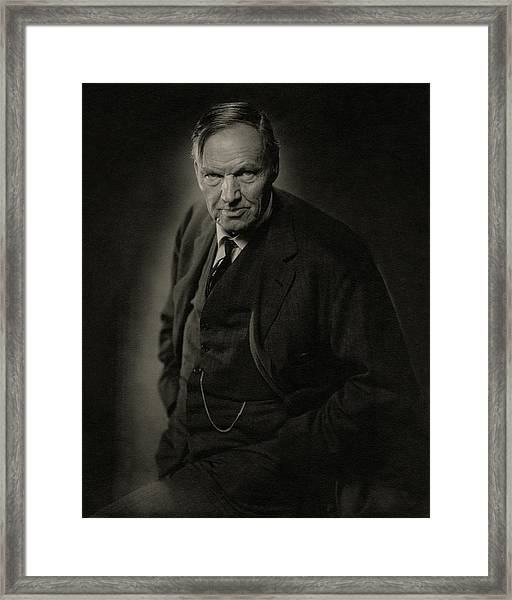 A Portrait Of Clarence Darrow Framed Print by Nickolas Muray