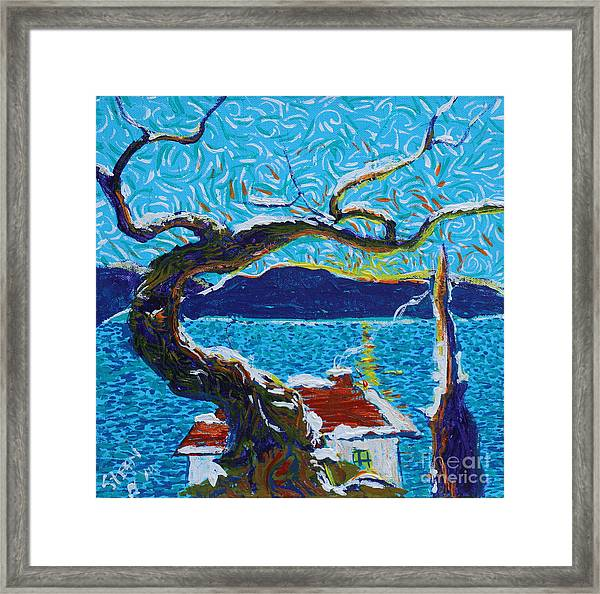 A River's Snow Framed Print