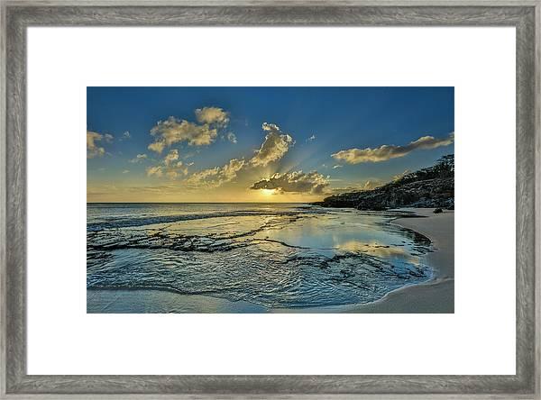 A Tidal Shelf On Kawakiu Nui Beach Framed Print