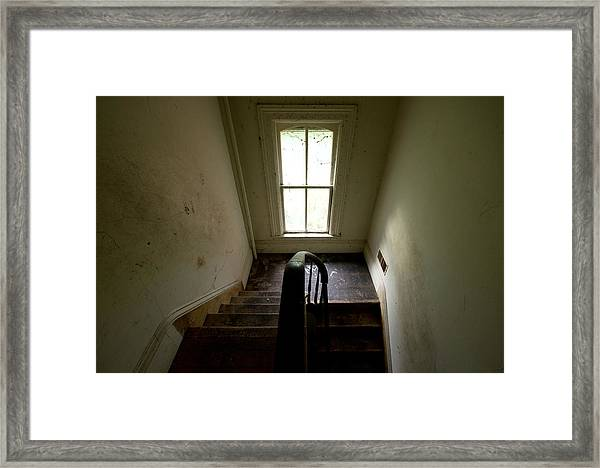 Abandoned Stairs Framed Print
