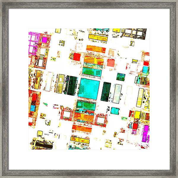 Abstract Geometric Art Framed Print