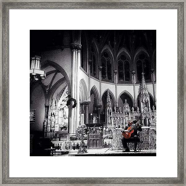 Acoustic Grace Framed Print