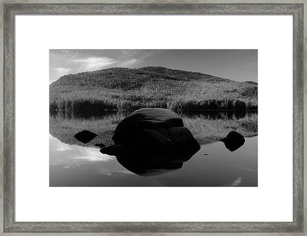 Pharoah Lake Reflections Framed Print