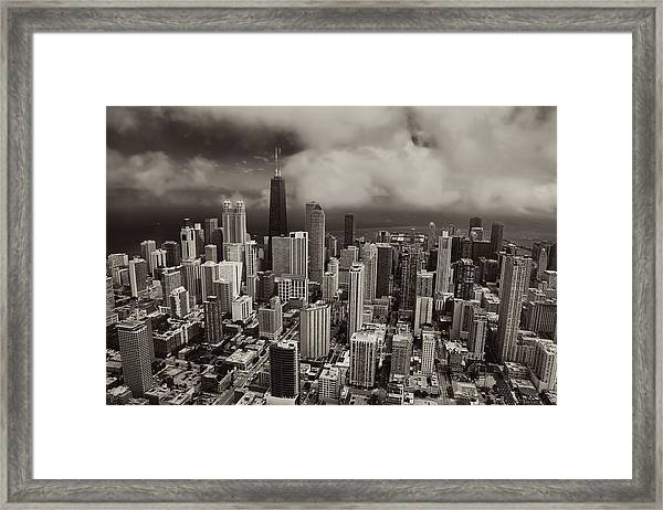 Aerial Chicago Near North Loop Framed Print