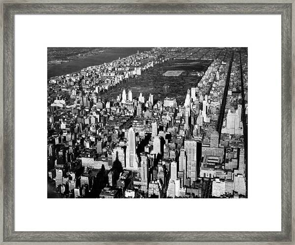 Aerial View Of Central Park Framed Print