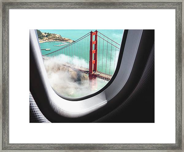 Aerial View Of San Francisco Golden Framed Print