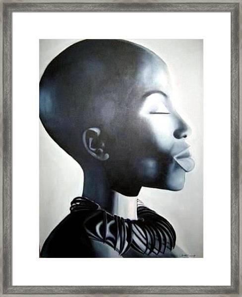 African Elegance - Original Artwork Framed Print