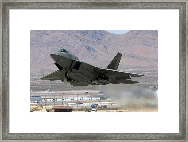 Air Force Holds Joint Expeditionary Force Experiment 2006 Framed Print by Ethan Miller