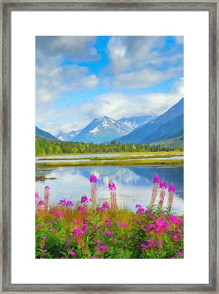 Alaskan Horizons Oil Painting Framed Print