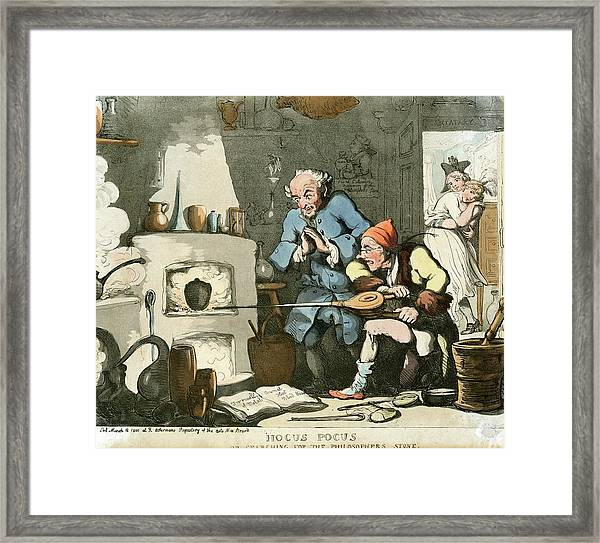 Alchemist At Work Framed Print by Chemical Heritage Foundation/science Photo Library