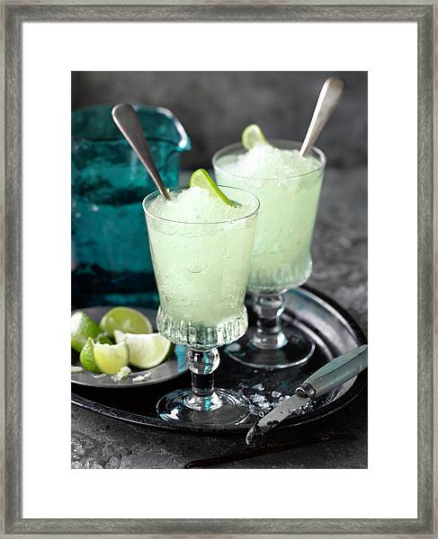 Alcohol Cocktails Framed Print by Brian Macdonald