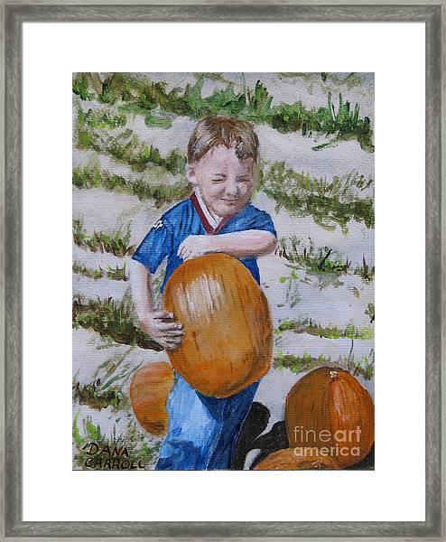 Alex And The Great Pumpkin 1488aa Framed Print by Dana Carroll