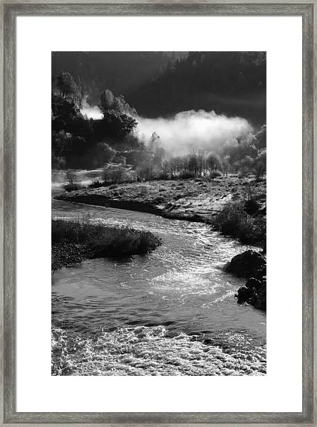 American River Confluence Framed Print