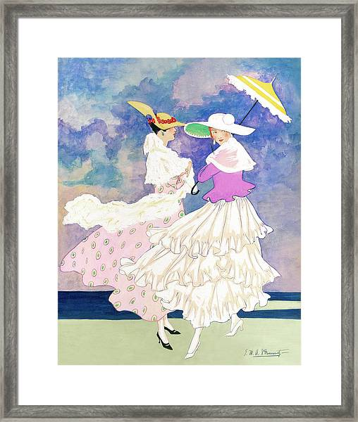 An Illustration For Vogue Magazine Framed Print