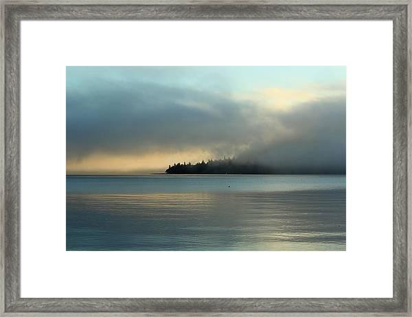 An Island In Fog Framed Print