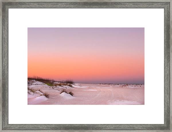 Anastasia Beach Sunset Framed Print