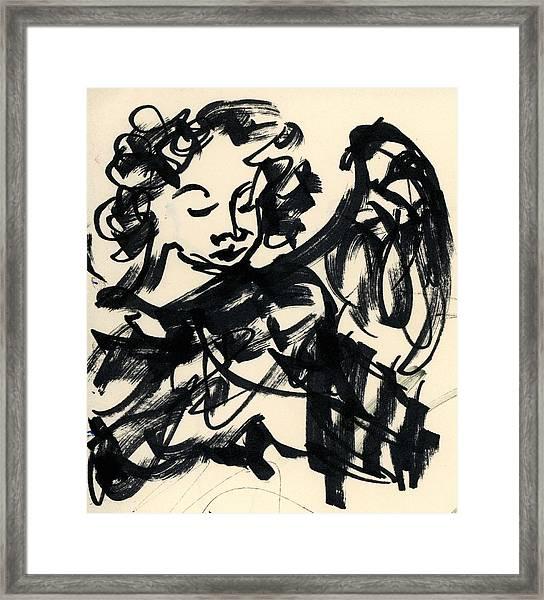 Angel Sketch Framed Print