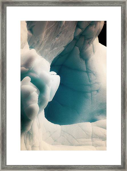 Antarctica Close-up Of An Iceberg Framed Print