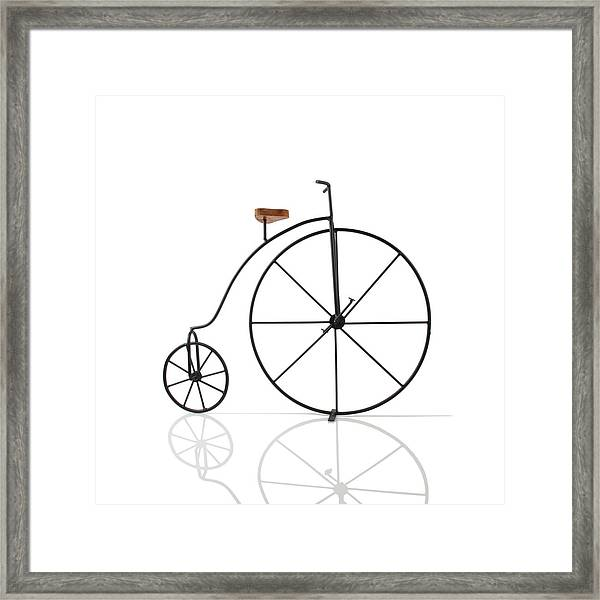 Antique Bicycle Framed Print by Kitty Ellis