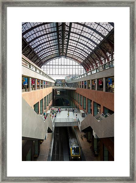 Antwerp Central Station Framed Print