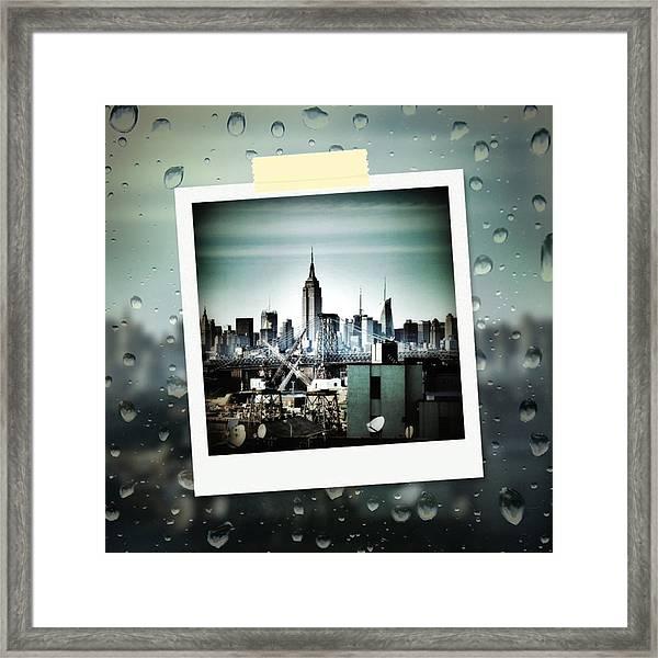 April In Nyc Framed Print