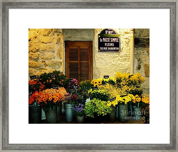 April In Paris Framed Print