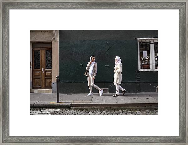 Arab Youth In Paris - Middle Eastern Millennials Framed Print by LeoPatrizi