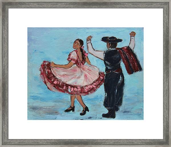 Argentinian Folk Dance Framed Print