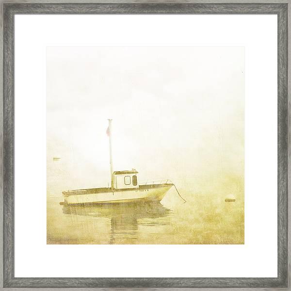 At Anchor Bar Harbor Maine Framed Print