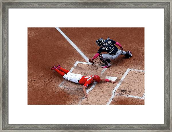 Atlanta Braves V Washington Nationals Framed Print