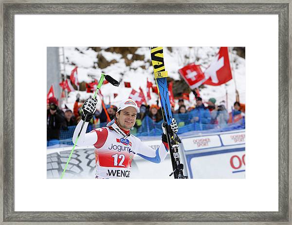 Audi Fis World Cup - Men's Downhill Framed Print by Alexis Boichard/Agence Zoom