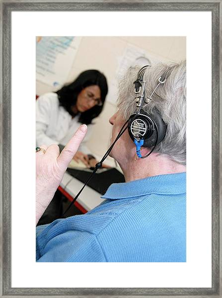 Audiometry Test Framed Print by Aj Photo/science Photo Library