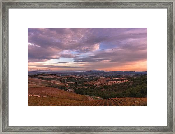 Autumn Sky Framed Print