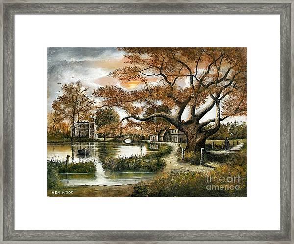 Autumn Stroll Framed Print
