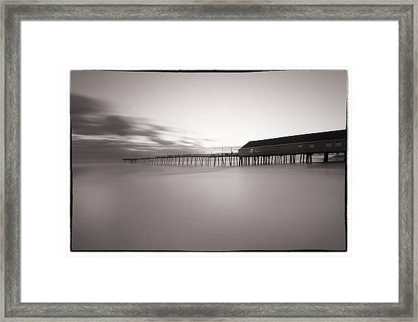 Avalon Fishing Pier Framed Print