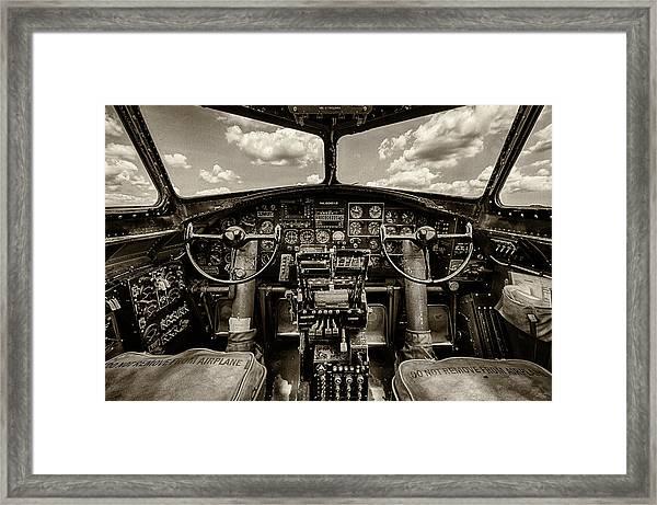 Cockpit Of A B-17 Framed Print