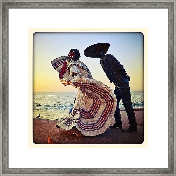 'bailarines De Vallarta' By Jim Demetro Framed Print