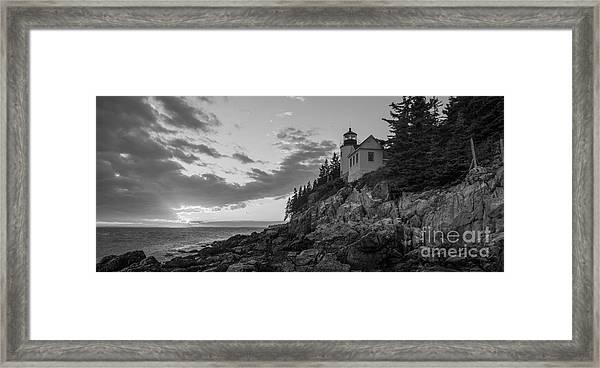 Bass Harbor Head Light Sunset  Framed Print