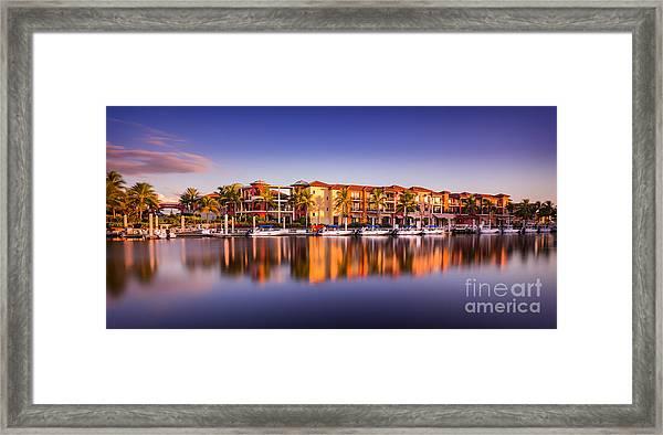 Bay Resort Naples Florida Framed Print