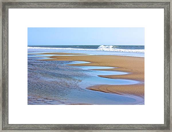 Beach Hand Framed Print