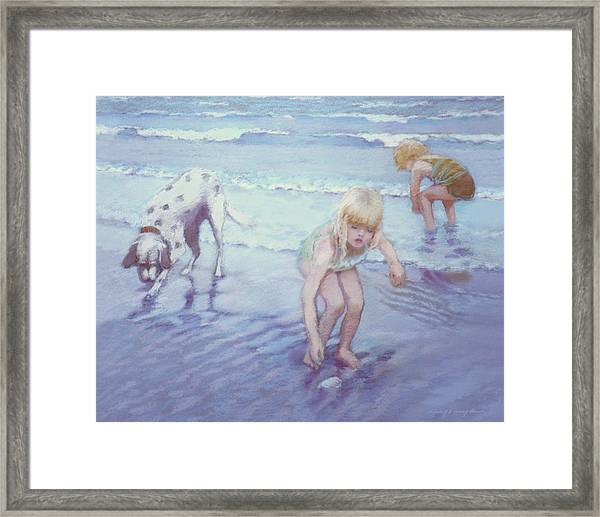 Beach Threesome Framed Print