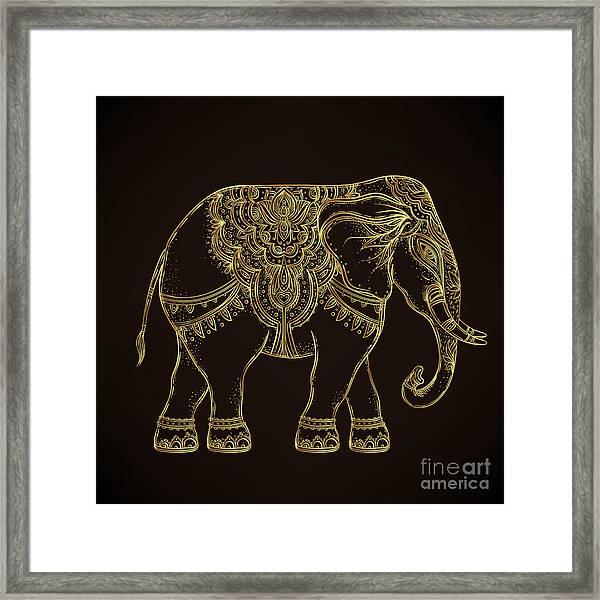 Beautiful Hand-drawn Tribal Style Framed Print