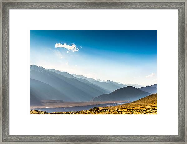 Beautiful Landscape In Norther Part Of India Framed Print by Primeimages