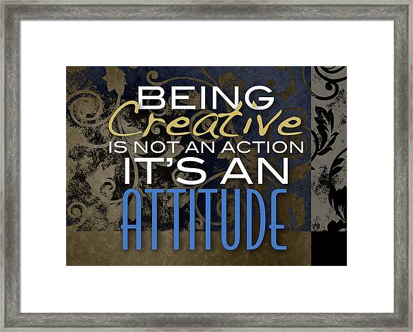 Being Creative Framed Print