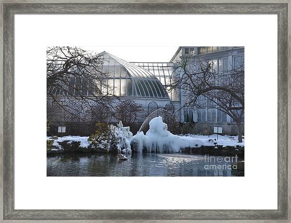 Belle Isle Conservatory Pond 2 Framed Print