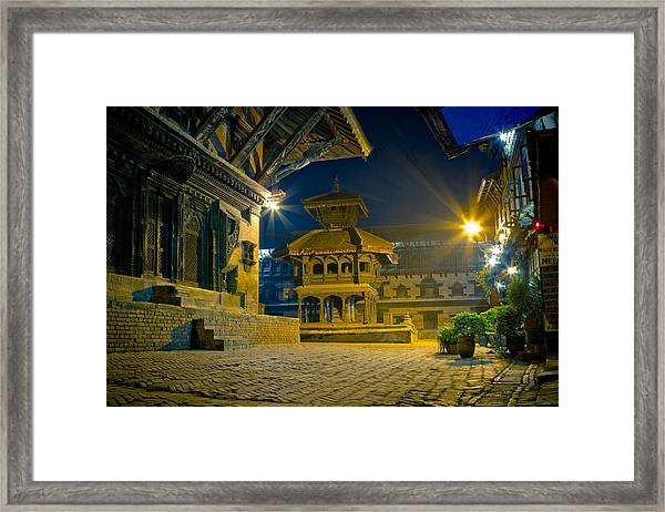 Framed Print featuring the photograph Bhaktapur City Of Devotees Artmif.lv by Raimond Klavins